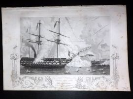 Tyrrell Crimea 1858 Naval Print. Admiral Sir E. Lyons in The Agememnon Ship
